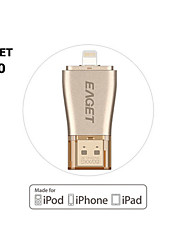 Eaget 64gb i50 para usb iphone OTG 3.0 flash drives de expansão de capacidade de 100% para iPhone / iPad / iPod, unidade micro caneta para
