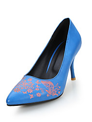 Spring Floral Korean fashion thin heel shoes low shoes commuter shoes high-heeled fashion x
