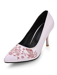 Zapatos de mujer-Tacón Stiletto-Tacones / Puntiagudos-Tacones-Vestido / Casual-Sintético-Negro / Azul / Rosa / Azul Real