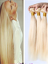 8a blonde russe faisceau de cheveux vierges traite 613 extensions de cheveux blonds de brazilian blonds armure de cheveux raides