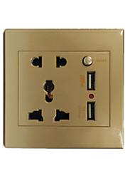 La prise USB or standard de 5 trous double avec interrupteur