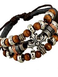 Vintage / Casual Alloy Charm / Braided/Cord Bracelet