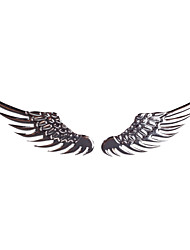 Car Paster Stereo Metal Paster Angel Wings Stickers for Car Silver