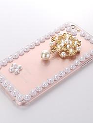 pearl-1 tpu + pc fond transparent pour iPhone6 en plus, 6s, plus