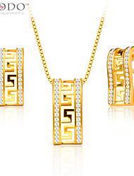 y cosecha de oro de 18 quilates chapado mujer joyas diamantes de imitación de las letras g / regalo de los hombres cosecha colgante collar