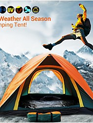 Top Brand Quality Double Layer 3-4 Person Rainproof Outdoor Camping Tent