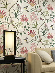 al-mullk Trees/Leaves Wallpaper Contemporary Wall Covering , Non-woven Paper American Pastoral Flowers