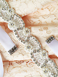 Satin Wedding / Party/ Evening / Dailywear Sash-Beading / Appliques / Pearls / Crystal / Rhinestone Women's 98 ½in(250cm)Beading /