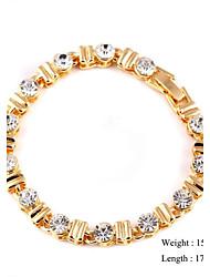 European Style Zircon Chain Bracelet Gold Plated