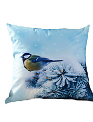 3D Design Print Animal Snow Birds Decorative Throw Pillow Case Cushion Cover for Sofa Home Decor Polyester