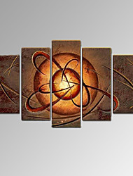 VISUAL STAR®5 Panel Contemporary Abstract Handmade Oil Painting Wall Decor Art Ready to Hang