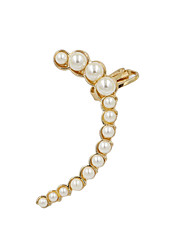 Fashion Women Pearl Set Curve Ear Cuff