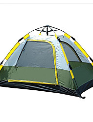 SHAMOCAMEL 3-4 persons Tent Double Automatic Tent One Room Camping Tent >3000mm Waterproof BreathabilityGreen
