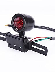 iztoss novo preto retro bala motocicleta luz de freio cauda placa lâmpada univeral para o cruzeiro helicóptero harley