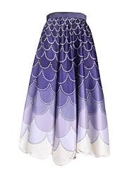 Women's Floral Purple Skirts,Beach Midi