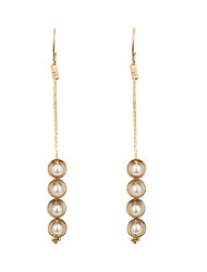 Earring Drop Earrings Jewelry Women Wedding / Party / Daily / Casual / Sports Pearl / Alloy / Copper 2pcs Ivory