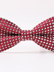Red Twill Mesh Bow Tie