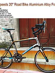 """18 velocidades de 20 """"gtl estrada da cidade de bicicleta ™ 2 rolamento liga de alumínio hub dobrar guiador kenda pneu da bicicleta retro"""