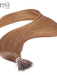 """neitsi® 20 """"1 g / s nano Ringschleife gerades Haar 100% Echthaar Haarverlängerungen 30 # include Haar-Tools"""