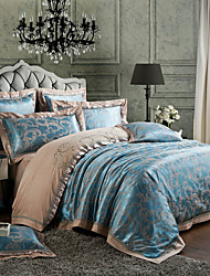 Floral Silk/Cotton Blend Duvet Cover Sets