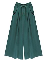 Women's Solid Black / Green / Yellow Harem Pants , Street chic