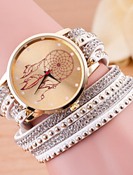 Women European Style Fashion Long Wrapped Rhinestone Dreamcatcher Bracelet Watch