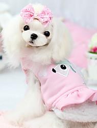 Dog Coat Green / Blue / Pink Dog Clothes Winter Cartoon Fashion