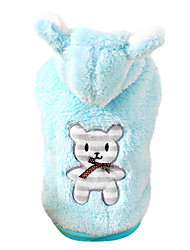 Dog Costume / Hoodie Blue / Pink Dog Clothes Winter / Spring/Fall Bear Cute / Cosplay