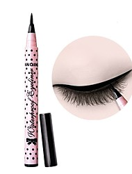 Eyeliner Waterproof Comestics Liquid Eye Liner Pencil Pen Make Up Beauty Fashionable Wave Point Long Lasting Smudge-Proof Black Liquid Eyeliner Pen