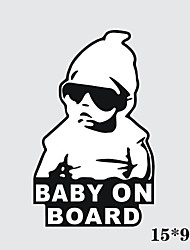 15*9CM/ Cool Baby on Board Car Sticker Motorcycle Sticker
