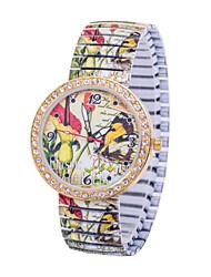 L.WEST Women's Colorful Butterfly Stretch Quartz Bracelet Watch Cool Watches Unique Watches