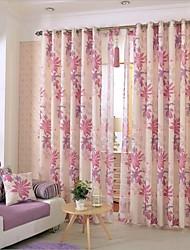 Two Panel European Minimalist Cartoon Children's Room Living Room Bedroom Linen Printed Curtains