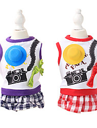 Dog Coat Red / Purple Dog Clothes Summer Fashion