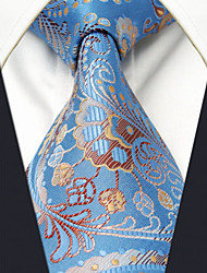 Men's Tie Blue Paisley Fashion 100% Silk  Business