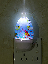 Lovely Undersea World Smart Light Controlled Emergency LED Night Light for Kids Room Home Decoration(Assorted Color)