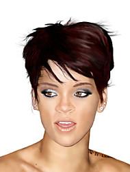 Rihanna Cut Short Human Hair Wigs Unprocessed Virgin Brazilian Glueless None Lace Machine Made Human Hair Wigs