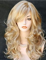Popular Cartoon Wig Long Curly Animated Blonde Short Synthetic Hair Wigs