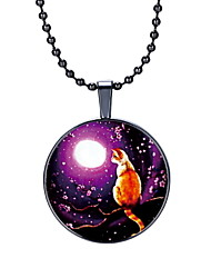 The New Time Lonely Cat Gemstone Pendant Necklace