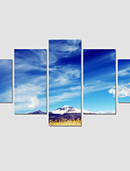 Modern Set Of 3 Canvas Print Art Painting The Blue Sky Pictures For Linving Room Modular Pictures