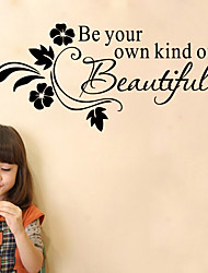 American Style Be Your Own Kind Of Beautiful Wall Sticker Diy Art Wall Decals Home Decor