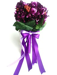 Bouquets de Noiva Redondo Peônias Buquês Casamento Festa / noite Cetim Elastano