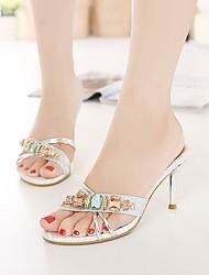 Women's Shoes Glitter / Leatherette Stiletto Heel Heels Sandals Office & Career / Dress / Casual