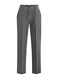 Women's Solid Blue / White / Black / Gray Suit Pants , Work