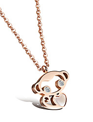 Lucky Monkey Ms 18K Gold Titanium Steel Necklaces