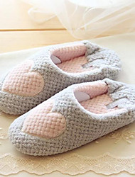 Women's Shoes Fleece Flat Heel Slippers Slippers Casual Pink / Gray