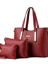 Feminino Couro Ecológico Formal / Casual / Compras / Ao Ar Livre / Trabalho & Escritório Bolsa de Ombro / Tote / Conjuntos de saco