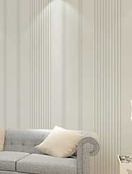PALUTON Stripe Wallpaper Contemporary Wall Covering , Non-woven Paper Simple Modern Relief Stripes