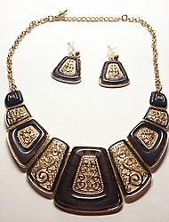 MISSING U Women Vintage / Party Gold Plated / Alloy / Resin Necklace / Earrings Jewelry Sets