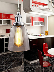 Modern Chrome Glass Vintage Industrial Retro Fitting Edison Pendant Light Cafe Dining Room Kitchen Porch Light