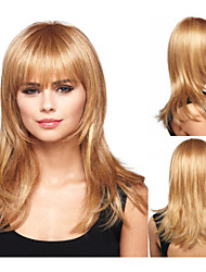 Fashionable Synthetic African American wigs Long Wavy hair wig for women Sexy Natural wigs with Bangs sw0025